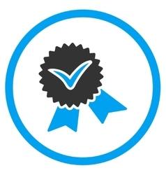 Validation stamp icon vector