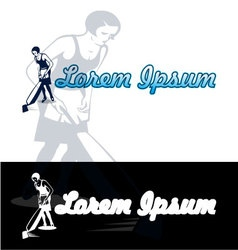 Woman vacuum cleaning vector