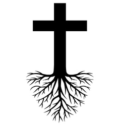 Deep rooted religion vector image