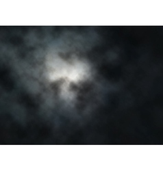 Moon clouds vector image