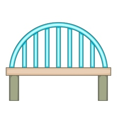 Bridge with round pillars icon cartoon style vector image