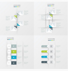 timeline 4 item green blue gray color vector image