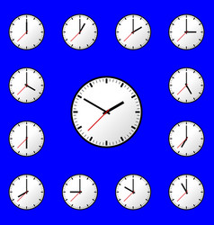 Set clock icon design eps10 vector