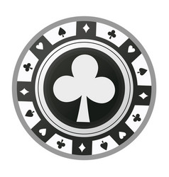 Casino chip vintage style ace poker game icon vector