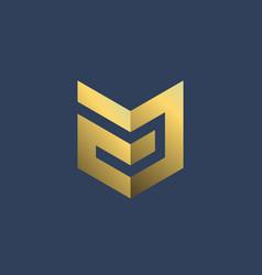 Letter a shield logo icon design template elements vector