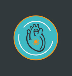 Heart disease logo icon design vector