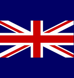 Official flag of united kingdom of great britain vector
