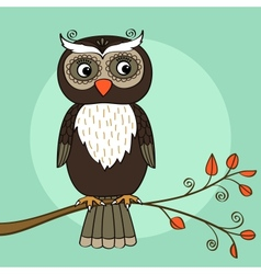 Owl tree vector