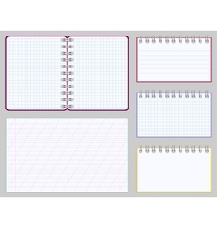 Collection of blank copybooks and notepads vector