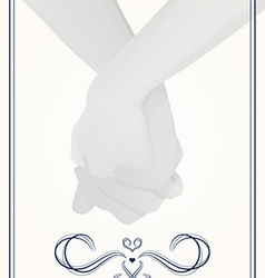 Holding hands wedding vector