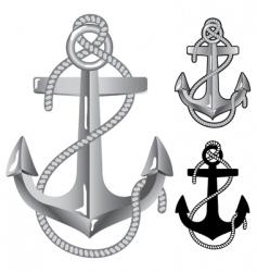 silver anchor vector image