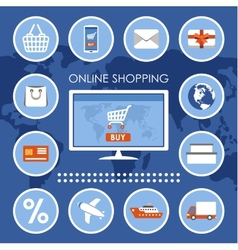 Internet shopping e-commerce online shopping set vector