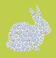 Design with bunny from flowers forget me nots vector