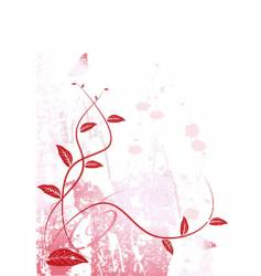 Grungy flowers vector