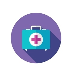 First aid flat icon with long shadow vector