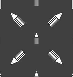 Pencil sign icon edit content button seamless vector