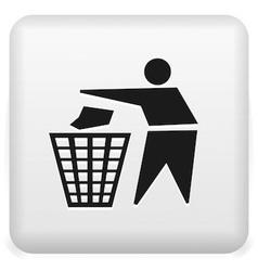 Garbage recycling icon vector