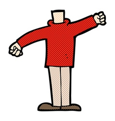 Comic cartoon body waving arms mix and match comic vector