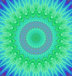 Crystal mandala fractal background vector