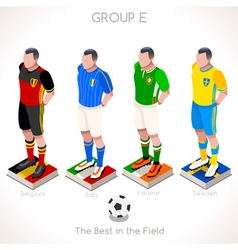 EURO 2016 Championship GROUP E vector image