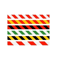 Road signs types of multi-colored road warning vector
