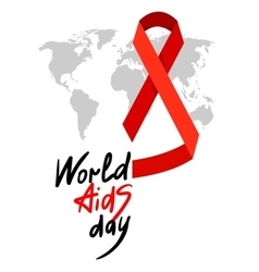World aids day 1st december vector