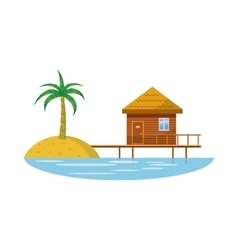 Hotel resort icon in cartoon style vector