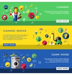 Cleaning banner set vector