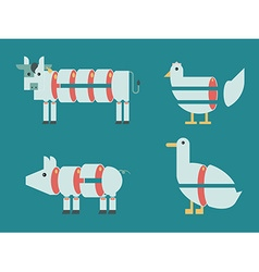 Animal Cut vector image