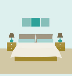 bedroom interior objects for graphic design vector image vector image