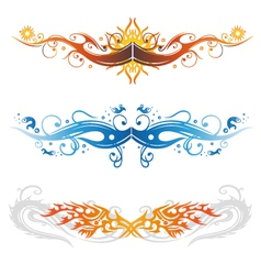 Colorful tattoos vector