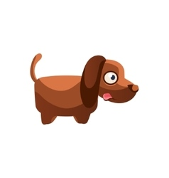 Dog simplified cute vector