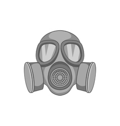 Gas mask icon black monochrome style vector