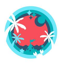 Layer depth art concept - happy holiday cartoon v vector