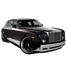 Luxurious british car vector