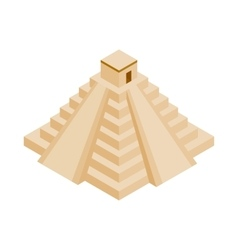 Mayan pyramid in yucatan icon vector