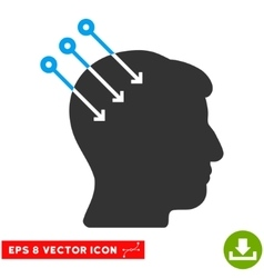 Neural interface connectors eps icon vector