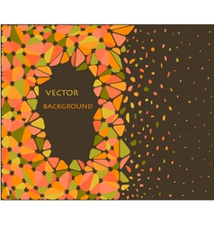 Orange and green triangle background vector