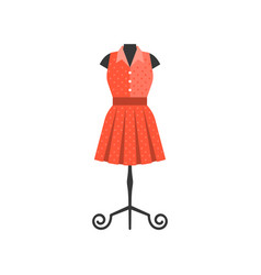 red dress in black mannequin vector image