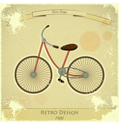 Retro bicycle vector image vector image