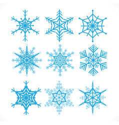 snowflakes design set on white background vector image vector image