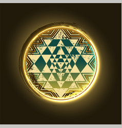 sri yantra golden symbol vector image