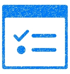 Todo items calendar page grainy texture icon vector
