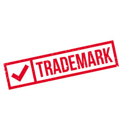 Trademark rubber stamp vector