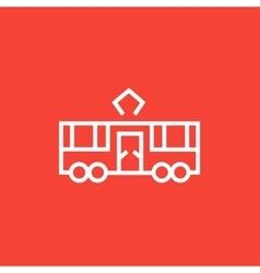 Tram line icon vector image vector image