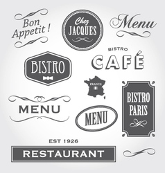 Vintage signs french restaurant vector