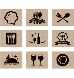 Concept restaurant menu set vector
