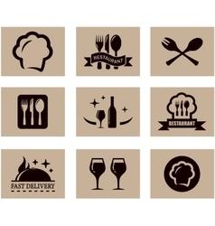 concept restaurant menu set vector image