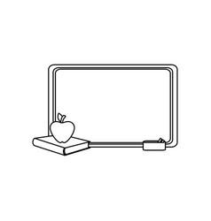 School chalkboard icon vector