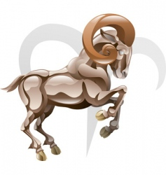 arise the ram star sign vector image